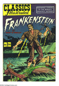 Golden Age (1938-1955):Classics Illustrated, Classics Illustrated #26 Frankenstein HRN 71 (Gilberton, 1950)Condition: VF-. Overstreet 2004 VF 8.0 value = $35. ...