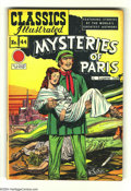 Golden Age (1938-1955):Classics Illustrated, Classics Illustrated #44 Mysteries of Paris HRN 62 (Gilberton, 1949). Overstreet 2004 FN 6.0 value = $90; VF 8.0 value = $17...