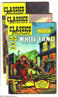 "Golden Age (1938-1955):Classics Illustrated, Classics Illustrated Group (Gilberton, 1952) Condition: Average FN. This group includes #80 (""White Fang"", HRN 87, FN/VF), ... (4 Comic Books)"
