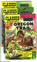 "Golden Age (1938-1955):Classics Illustrated, Classics Illustrated Group (Gilberton, 1952) Condition: Average VG/FN. This group includes #72 (""The Oregon Trail,"" HRN 89, ... (Total: 6 Comic Books Item)"