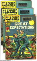 """Golden Age (1938-1955):Classics Illustrated, Classics Illustrated Golden Group (Gilberton, 1950-52) Condition:Average VG+. This group includes #43 (""""Great Expectations,...(Total: 7 Comic Books Item)"""