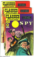 "Golden Age (1938-1955):Classics Illustrated, Classics Illustrated Golden Group (Gilberton, 1950-52) Condition:Average VG+. This group includes #51 (""The Spy,"" HRN 89), ...(Total: 6 Comic Books Item)"