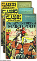 Golden Age (1938-1955):Classics Illustrated, Classics Illustrated Group (Gilberton, 1948-50). Lot consists of ten issues, as follows: #27 The Adventures of Marco Polo... (Total: 10 Comic Books Item)