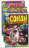 Bronze Age (1970-1979):Miscellaneous, Conan the Barbarian Group (Marvel, 1973-75) Condition: Average VF.This group consists of nine comics: #27, 28, 42 (two copi...(Total: 9 Comic Books Item)