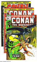 Bronze Age (1970-1979):Miscellaneous, Conan the Barbarian Group (Marvel, 1971-72) Condition: AverageFN/VF. This group consists of five comics: #9, 11, 12, 14, an...(Total: 5 Comic Books Item)