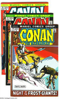 Bronze Age (1970-1979):Miscellaneous, Conan the Barbarian Group (Marvel, 1972-73) Condition: Average FN/VF This group consists of seven comics: #16-20, 22, and 24... (Total: 7 Comic Books Item)