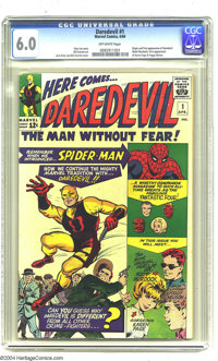Daredevil #1 (Marvel, 1964) CGC FN 6.0 Off-white pages. Origin and first appearance of Daredevil (Matt Murdock). First a...