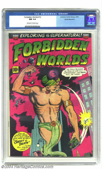 Forbidden Worlds #12 White Mountain pedigree (ACG, 1952) CGC NM 9.4 Off-white to white pages. This genie on this cover d...