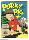 "Golden Age (1938-1955):Funny Animal, Four Color #48 Porky Pig (Dell, 1944) Condition: VG. ""Porky of theMounties"" story by Carl Barks. Overstreet 2004 VG 4.0 val..."