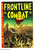 Golden Age (1938-1955):War, Frontline Combat #13 (EC, 1953) Condition: GD/VG. Wally Wood cover. Jack Davis, John Severin, Harvey Kurtzman, and George Ev...