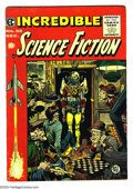 Golden Age (1938-1955):Science Fiction, Incredible Science Fiction #32 (EC, 1955) Condition: FN/VF. JackDavis cover. Davis, Al Williamson, and Roy Krenkel art. Ove...