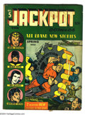 Golden Age (1938-1955):Superhero, Jackpot Comics #5 (MLJ, 1942) Condition: GD/VG. Hitler cover.Overstreet 2003 GD 2.0 value = $152; VG 4.0 value = $304....
