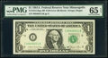 Small Size:Federal Reserve Notes, Fr. 1912-I $1 1981A Federal Reserve Note with Back Plate 129 at Left. PMG Gem Uncirculated 65 EPQ;. Fr. 1922-I $1 1995 Fed... (Total: 2 notes)