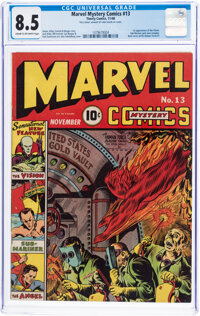 Marvel Mystery Comics #13 (Timely, 1940) CGC VF+ 8.5 Cream to off-white pages