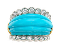Aletto Brothers Turquoise, Diamond, Gold Ring
