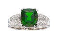 Estate Jewelry:Rings, Chrome Diopside, Diamond, White Gold Ring . ...