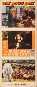 """Movie Posters:Academy Award Winners, Ben-Hur & Other Lot (MGM, 1960). Fine/Very Fine. Lobby Cards (3) (11"""" X 14""""). Academy Award Winners.. ... (Total: 3 Items)"""