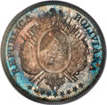 Bolivia: Republic 5-Piece silver Pattern Proof Set 1884 PTS-FE PCGS,... (Total: 5 coins)