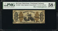 Fractional Currency:Third Issue, Fr. 1363 50¢ Third Issue Justice PMG Choice About Unc 58 EPQ.. ...