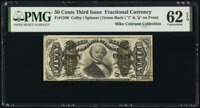 Fr. 1340 50¢ Third Issue Spinner Type II PMG Uncirculated 62 EPQ
