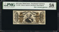 Fractional Currency:Third Issue, Fr. 1329 50¢ Third Issue Spinner PMG Choice About Unc 58.. ...