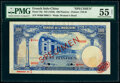 World Currency, French Indochina Banque de l'Indo-Chine 100 Piastres ND (1946) Pick 79s Specimen PMG About Uncirculated 55 Net.. ...