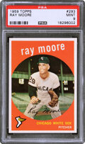 Baseball Cards:Singles (1950-1959), 1959 Topps Ray Moore #293 PSA Mint 9 - Pop Five, Only One ...