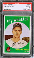Baseball Cards:Singles (1950-1959), 1959 Topps Ray Webster #531 PSA Mint 9 - Two Higher.