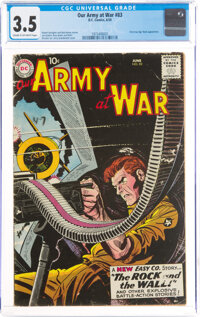 Our Army at War #83 (DC, 1959) CGC VG- 3.5 Cream to off-white pages