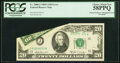 Error Notes:Foldovers, Printed Fold Error and Misaligned Green Portion of Third Printing Error Fr. 2068-J $20 1969A Federal Reserve Note. PCGS Choice...