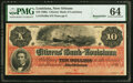 Obsoletes By State:Louisiana, New Orleans, LA- Citizens' Bank of Louisiana $10 18__ G26a Remainder PMG Choice Uncirculated 64.. ...
