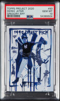 Baseball Cards:Singles (1970-Now), 2020 Topps Project 2020 Derek Jeter by Gregory Siff #93 PSA Gem Mint 10. ...