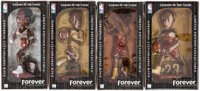 LeBron James Cleveland Cavaliers Bobbleheads, Lot of 4. ... (Total: 4 items)