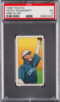 Baseball Cards:Singles (Pre-1930), 1909-11 T206 Tolstoi Patsy Dougherty (Arm In Air) PSA EX 5 - Pop One, Two Higher for Brand. ...