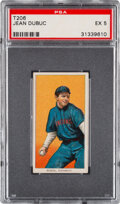 Baseball Cards:Singles (Pre-1930), 1909-11 T206 Old Mill Jean Dubuc PSA EX 5 - Pop Two, Three Higher for Brand. ...