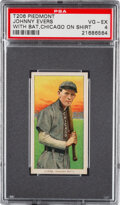 Baseball Cards:Singles (Pre-1930), 1909-11 T206 Piedmont 350-460/42 Johnny Evers (Chicago On Shirt) PSA VG-EX 4 - Pop One, One Higher for Brand/Series/Factory. ...
