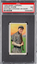 Baseball Cards:Singles (Pre-1930), 1909-11 T206 Sweet Caporal 350-460/30 Johnny Evers (Chicago On Shirt) PSA NM 7 - Pop Two, None Higher for Brand/Series/Factory...