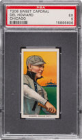 Baseball Cards:Singles (Pre-1930), 1909-11 T206 Sweet Caporal 350/30 Del Howard (Chicago) PSA EX 5 - Pop One, Two Higher for Brand/Series/Factory. ...