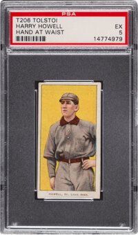 1909-11 T206 Tolstoi Harry Howell (Hands At Waist) PSA EX 5 - Pop Two, None Higher for Brand