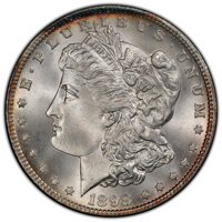 1898 $1 MS67 PCGS. PCGS Population: (124/0 and 21/0+). NGC Census: (20/0 and 2/0+). CDN: $2,000 Whsle. Bid for NGC/PCGS...