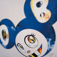 Takashi Murakami (b. 1962) And Then x 6 (Blue: The Polke Method), 2012 Offset lithograph in colors o