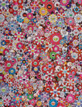 Prints & Multiples, Takashi Murakami (b. 1962). Circus: Embrace the Darkness Within Thy Heart, 2013. Offset lithograph in colors on satin wo...