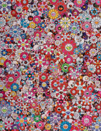 Takashi Murakami (b. 1962) Circus: Embrace the Darkness Within Thy Heart, 2013 Offset lithograph in