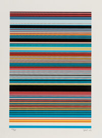 JRF (b. 1971) Untitled 1 (Borders Series), 2020 Screenprint in colors on Coventry Rag cotton archival paper 12 x 9 in
