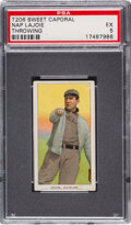 Baseball Cards:Singles (Pre-1930), 1909-11 T206 Sweet Caporal 350/30 Napoleon Lajoie (Throwing) PSA EX 5 - Pop One, None Higher for Brand/Series. ...