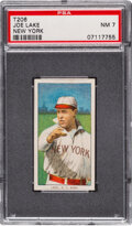 Baseball Cards:Singles (Pre-1930), 1909-11 T206 Sweet Caporal 350/25 Joe Lake (New York) PSA NM 7 - Pop One, None Higher for Brand/Series/Factory. ...