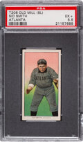 Baseball Cards:Singles (Pre-1930), 1909-11 T206 Old Mill Sid Smith PSA EX+ 5.5. ...