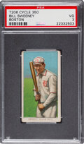 Baseball Cards:Singles (Pre-1930), 1909-11 T206 Cycle 350 Bill Sweeney (Boston, Batting) PSA VG 3 - One of Only Six PSA-Graded Examples. ...