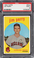 Baseball Cards:Singles (1950-1959), 1959 Topps Jim Perry #542 PSA Mint 9 - None Higher!