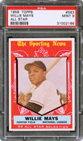 Baseball Cards:Singles (1950-1959), 1959 Topps Willie Mays (All Star) #563 PSA Mint 9 - Only O...